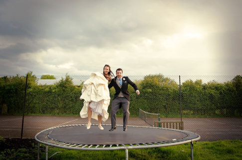 Funny poses wedding photography
