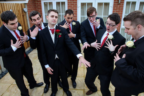 London Wedding Funny Poses